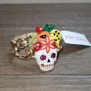Betsey Johnson Rio Sugar Skull and Fruit Bracelet.
